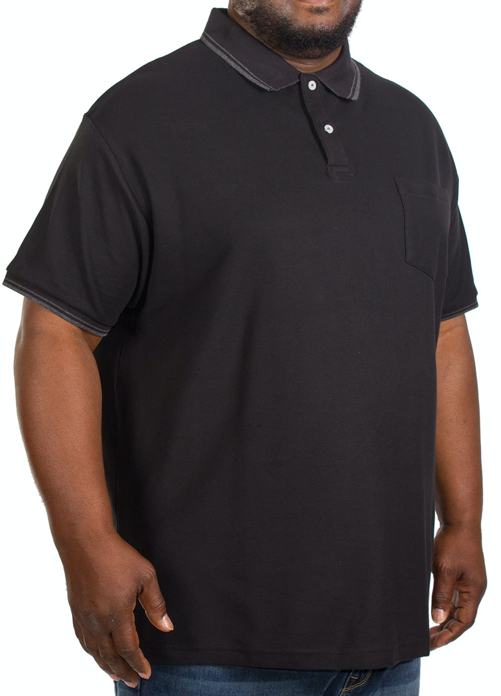 Replika Tipped Polo Shirt Black