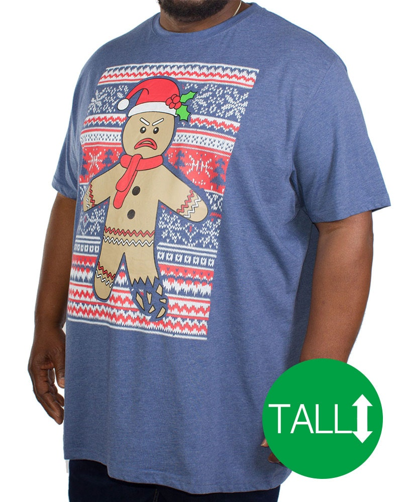 D555 Snowflake Gingerbread Christmas T-Shirt Tall