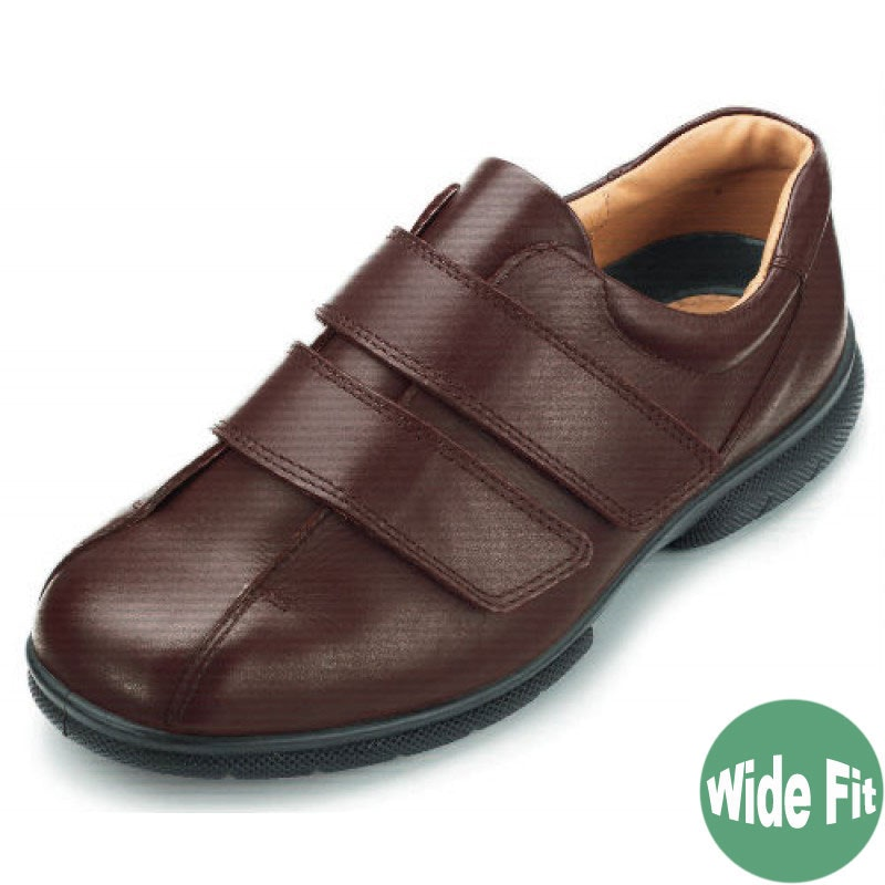 DB Shoes Ashton Wide Fit Brown Leather Shoe
