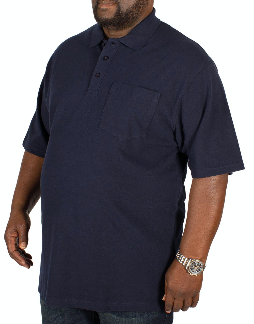 Bigdude Polo Shirt With Pocket Navy
